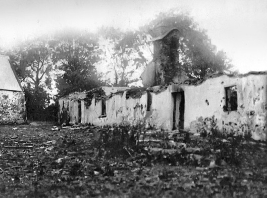 The cottage in Clonmult where members of the 4th Battalion were trapped and killed on 20 February 1921. It represented the worse loss of life for the IRA during the conflict. They had withdrawn there following the Midleton Ambush, which had itself led to the first official reprisal of the War, the aftermath of which was filmed by Pathé (Imperial War Museum)