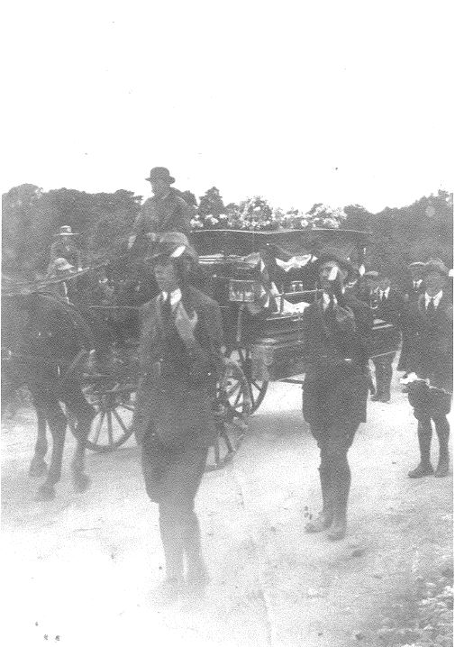 The funeral of the O/C of the Midleton Company, Diarmuid Hurley, in 1921v (Dick Cashman/John Fenton Collection)